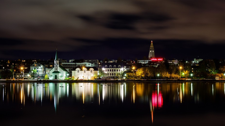 A quiet evenening at the lake- Reykjavik City Centre, Iceland