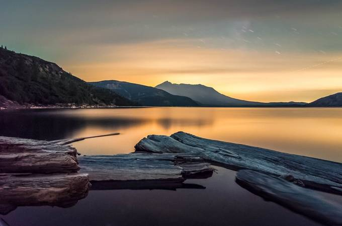 Mt St Helens and Spirit Lake through red filter by arunrohila - Creative Landscapes Photo Contest