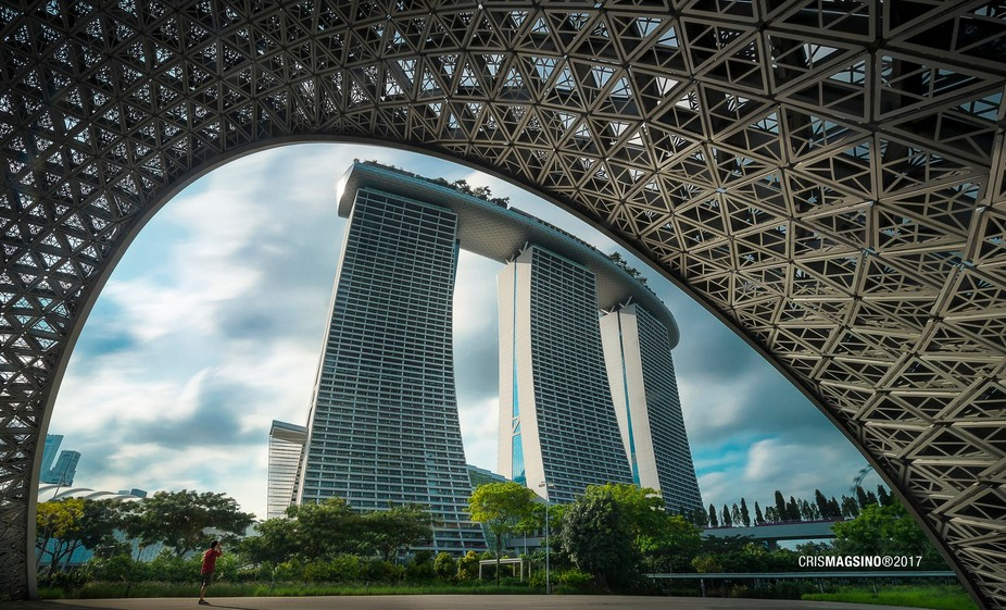 Framing structures within structures make for interesting composition. Shot this inside a structure in Gardens by the Bay Singapore.