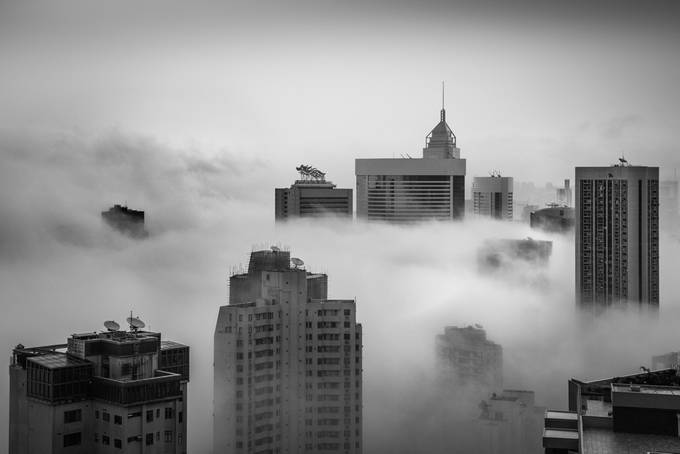 Foggy Hong Kong by tedlau - Fog And City Photo Contest