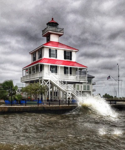 Lakefront lighthouse
