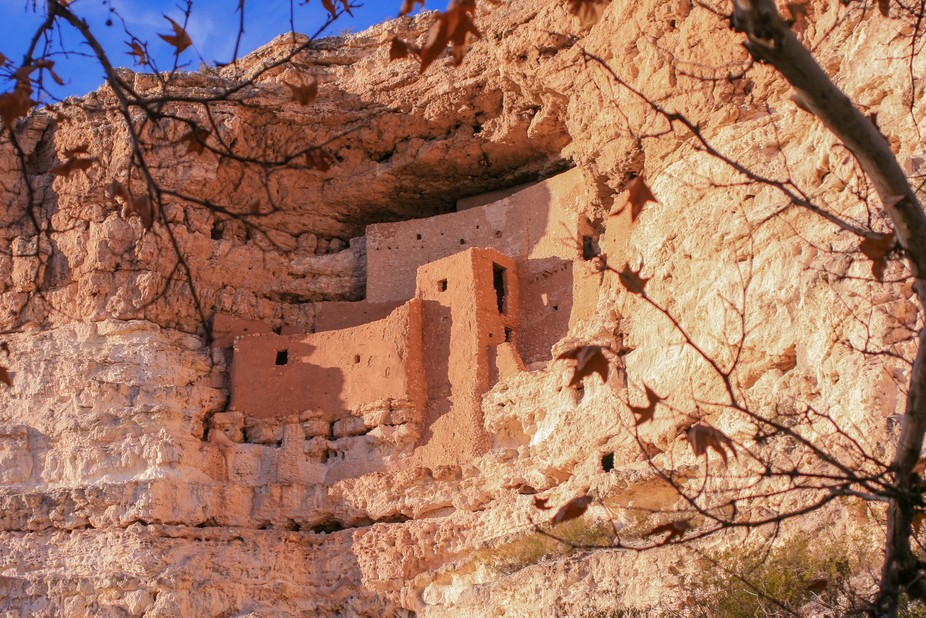 This a set of well-preserved dwellings in Camp Verde, Arizona which were built by the Sinagua peo...