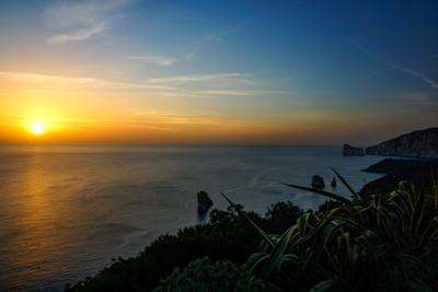 Sunset by Pan di Zucchero, Sardinia, Italy