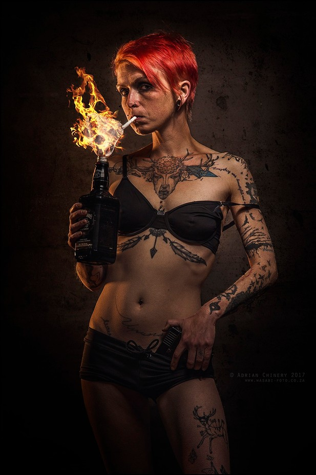 lady molotov by adrianchinery - Wearing A Bikini Photo Contest