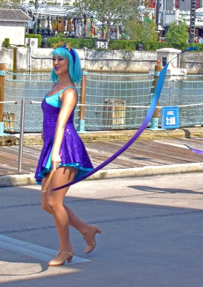 Parade dancer at Universal studios FL