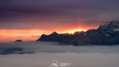 Dawn at Cinque Torri, Cortina d'Ampezzo