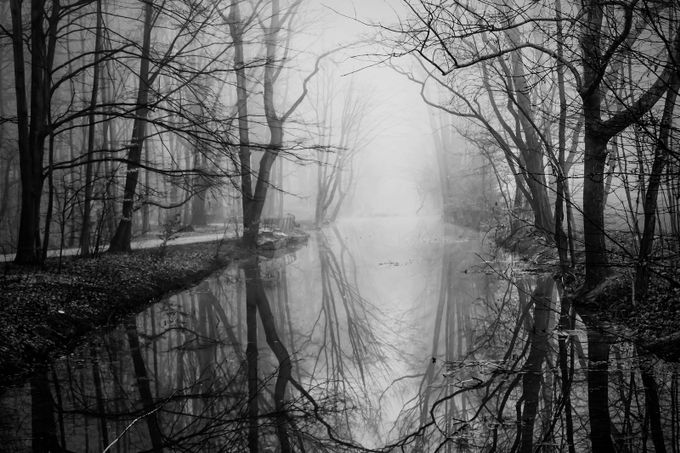 mystic river by frankseltmann - The Water In Black And White Photo Contest
