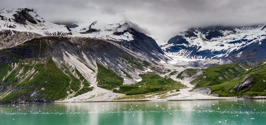 This was shot from a cruise ship in Glacier Bay in Alaska.