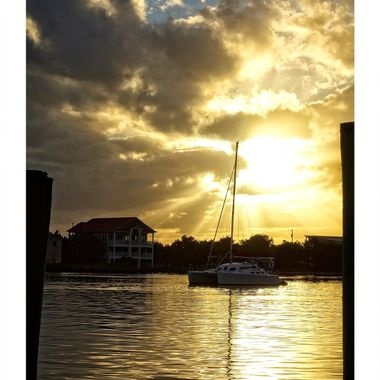 Sunset on Silver Lake, Ocracoke, NC