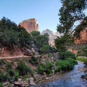 This is near the beginning of the trail to hike up to Angel's Landing.  I chickened out and stopped at Scout's Lookout.  :)  Absolutely...