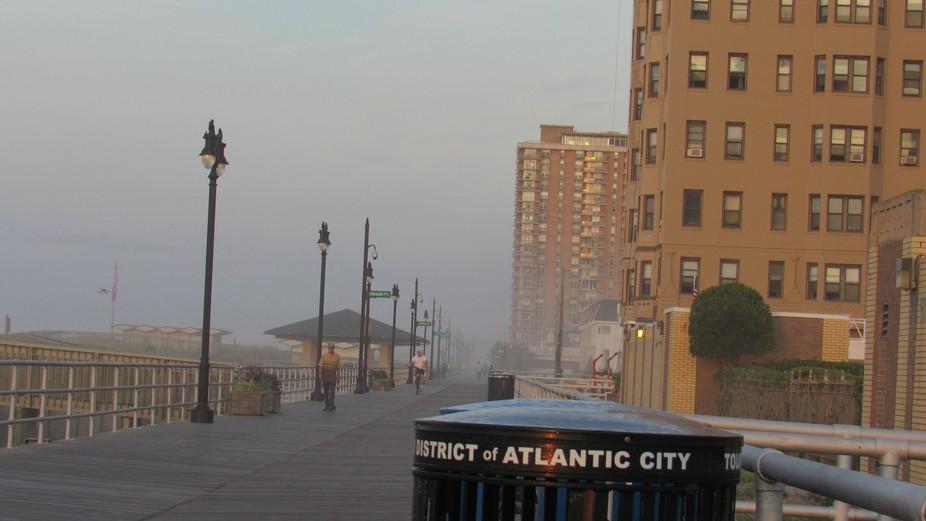 Misty Morning Boardwalk (Original Shot)