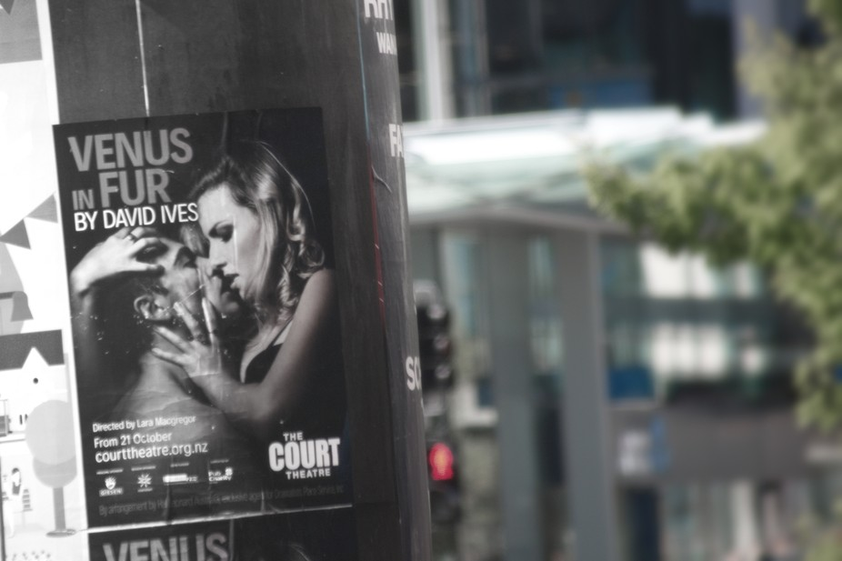 Poster on Pole