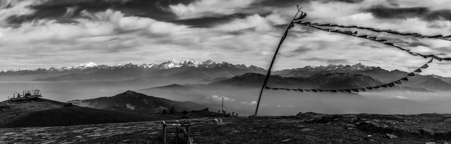 Langtang mountain range view from Sailunge hill
