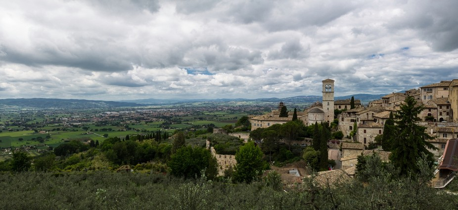 Cloudy Landscape of Assisi