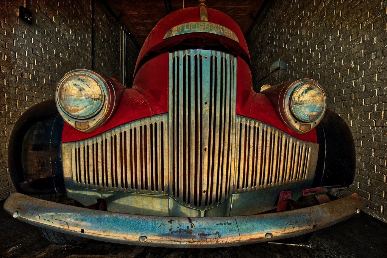 A vintage Studebaker Pickup truck in Shamrock, Texas.