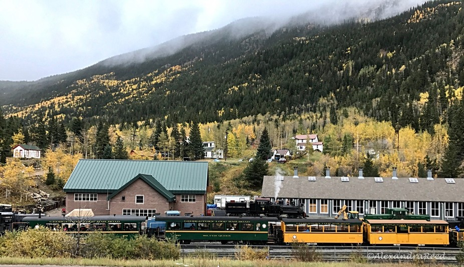 Picturesque train station in Silver Plume, CO ~ Taken with my iphone 7 plus (no filters needed)