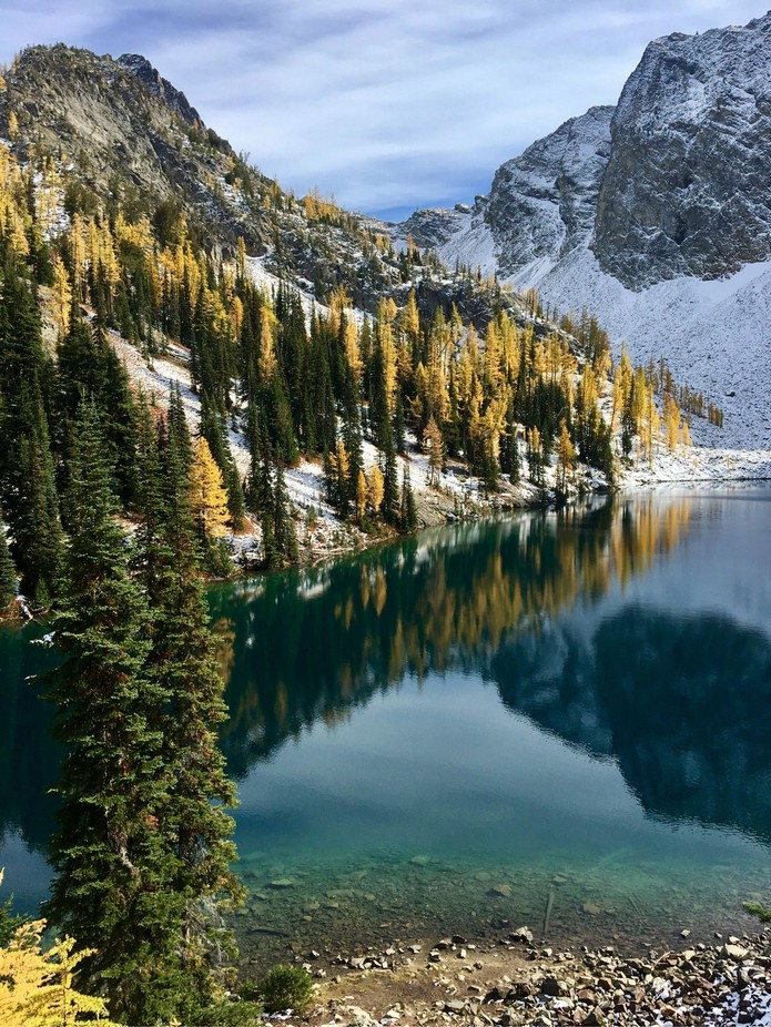 Blue Lake and the Larches by MountainRogue - Our Natural Planet Photo Contest