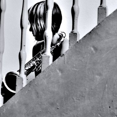 girl in staircase