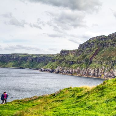 I took this photo when me and my wife visited Ireland in the year 2017.  After crossing the rope bridge, I walked round the small island taking photos. This photo was one of them.