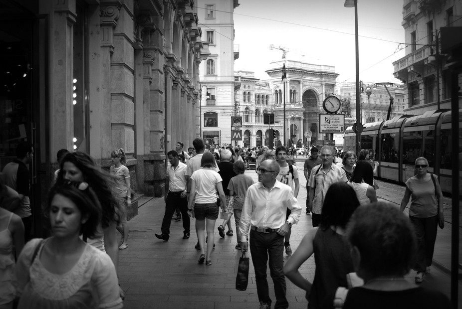 rush hour in Milan
