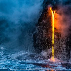 At the Kamokuna ocean entry, Kilauea volcano, Hawaii. Check it out on Nat Geo Your shot. Published by Nat Geo as photo of the day and winner of a...