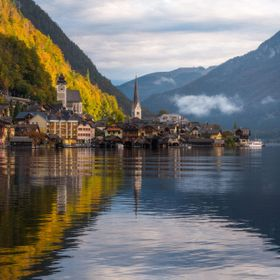Early morning in Hallstatt, Austria.
