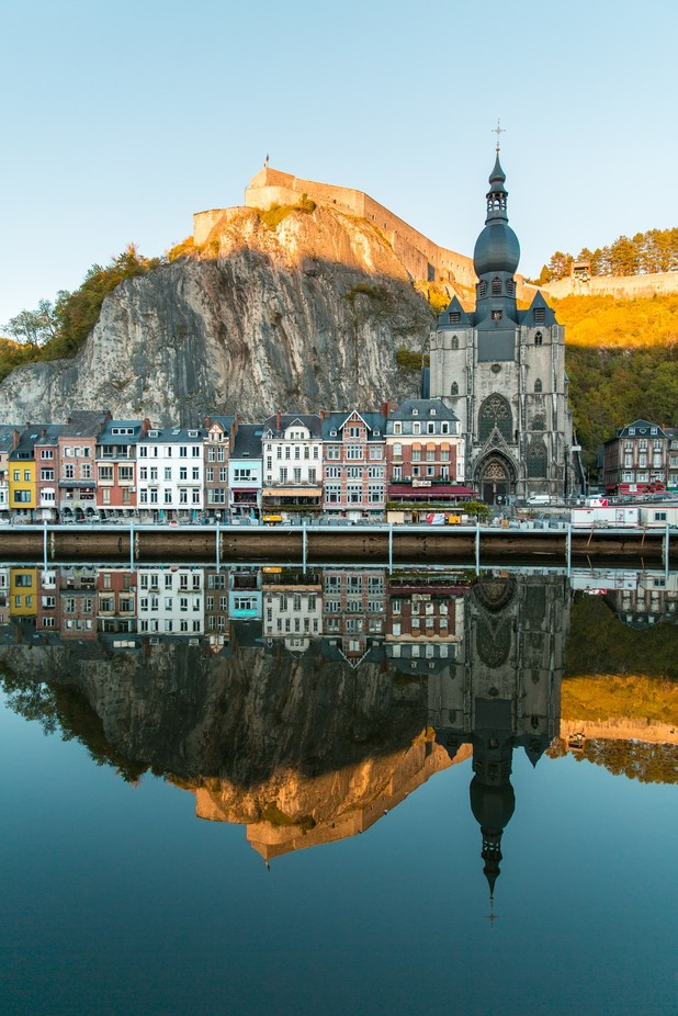 Dinant reflection by ivanyohan - Architecture And Reflections Photo Contest