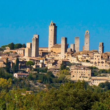 San Gimignano, Italy is a small city I really love. When you walk around the city you feel history come alive.