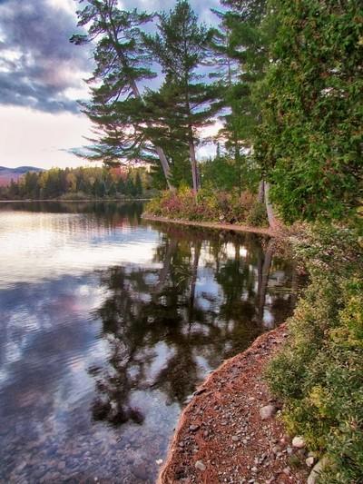 Arnold Pond, ME - Fall Sunset