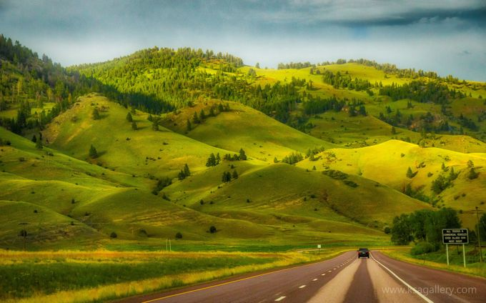 Green Hills of Montana by KarstenStanleyAndersen - A Road Trip Photo Contest