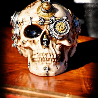 A skull at a Goth meeting in Germany.
