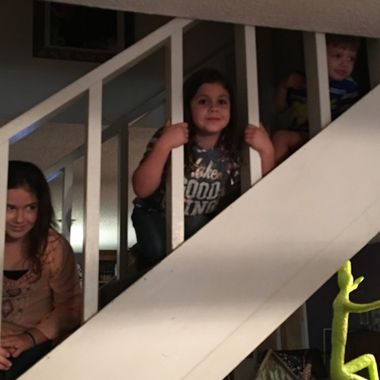 Fun on the staircase