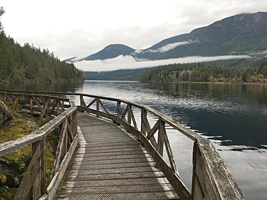 Inland lake bridge
