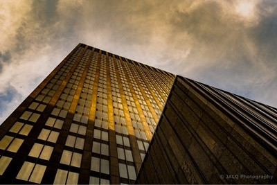 Golden hour and architectural lines