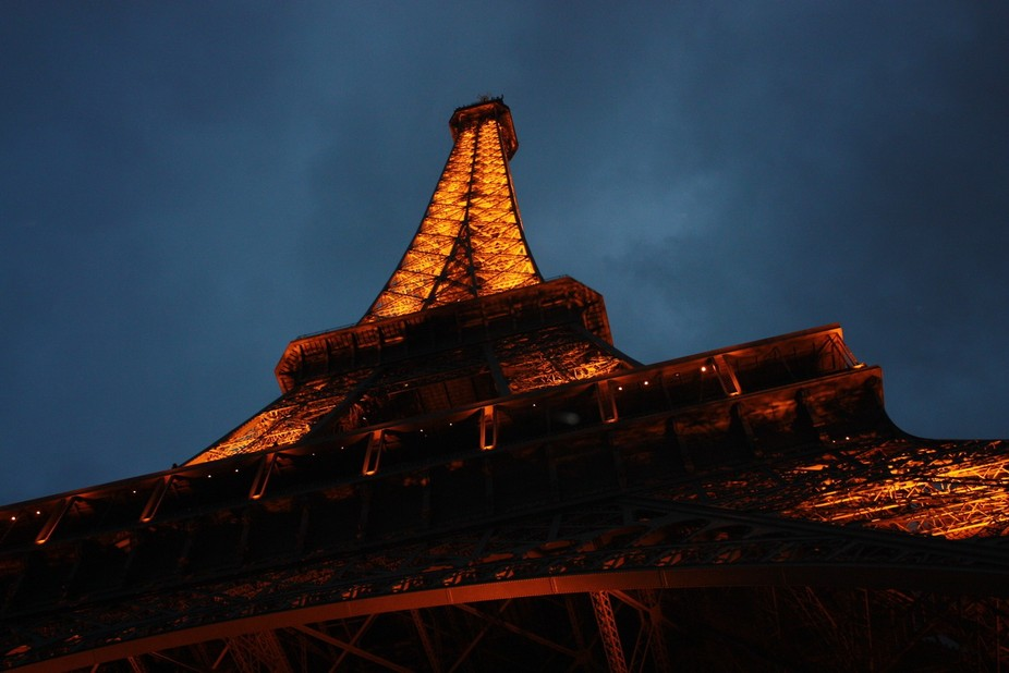 Eiffel Tower at night, 2012