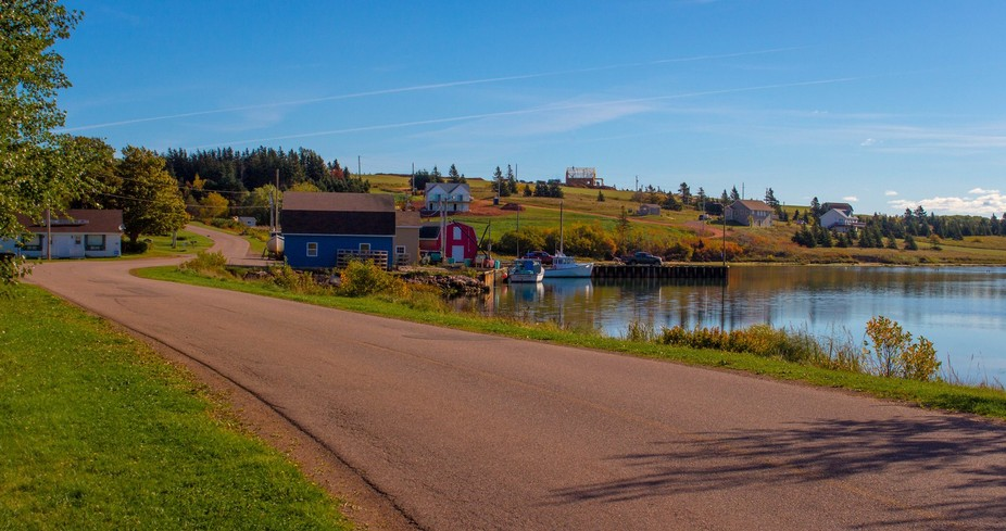 The small wharf in French Village, Prince Edward Island, Canada