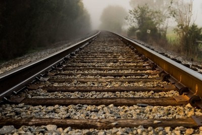 Misty Railroad Tracks