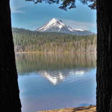 Mt. McLoughlin as viewed from the shores at Lake of the Woods