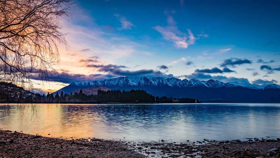 A snap of the Remarkables from Queenstown at Sunrise