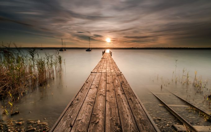 Jetty into sunset by mb_lichtbild - Promenades And Boardwalks Photo Contest