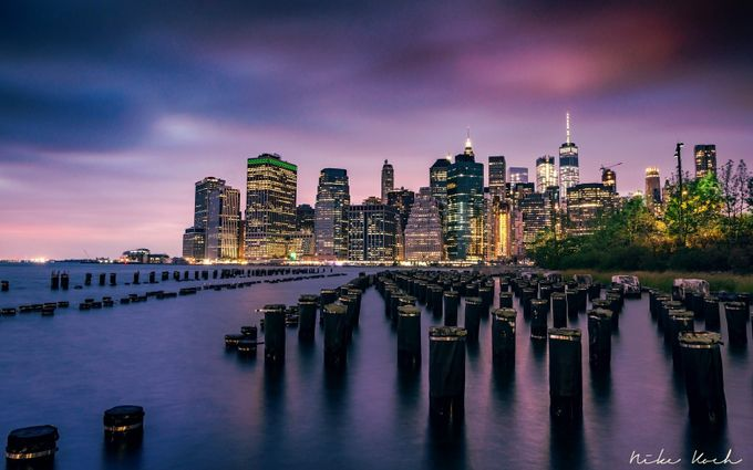 Welcome To New York by framing-places - Sunrise Or Sunset Photo Contest