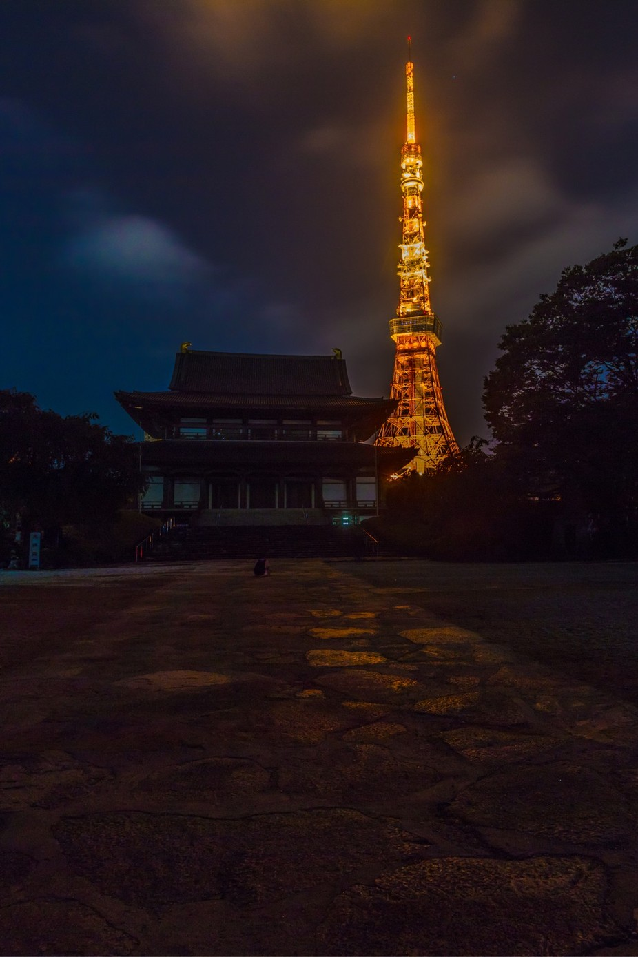 The Tokyo Tower and the Shinto Temple by brittabia - The Magic Of Japan Photo Contest