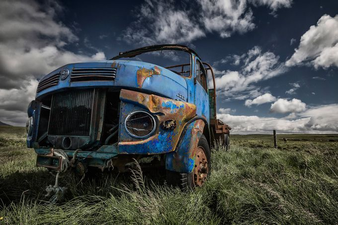 The Blue Benz by BRIN - Trucks Photo Contest