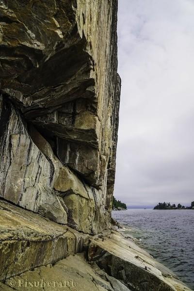 lake superior provincial park - pictograph wall