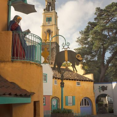 This is the first area that a visitor to Portmeirion sees on entering the Village. The imagination of the Architect becomes a reality immediately.