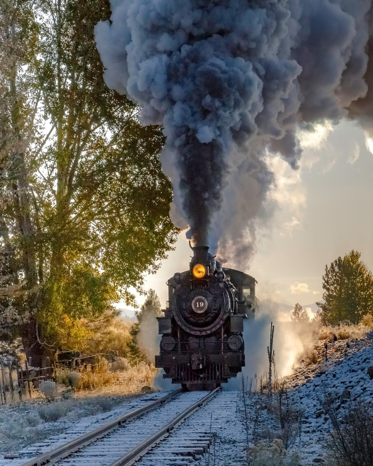 Steam Train on an Early Autumn Day .. by Reebee - Everything Smoke Photo Contest