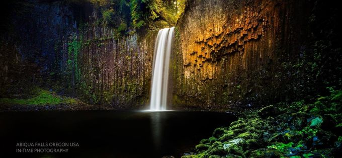 Abiqua Falls by jasonboneham - Bright Colors In Nature Photo Contest