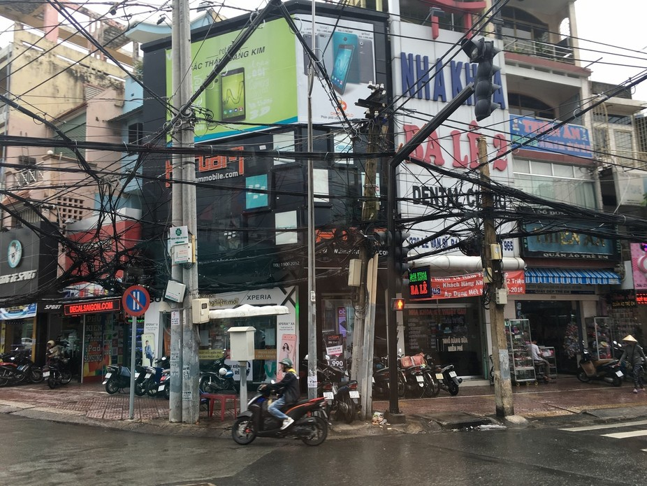 Wires were everywhere, some live and cut. It was chaos.