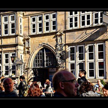 The Ratten Krug (Rats Tankard) pub in Hameln Germany.