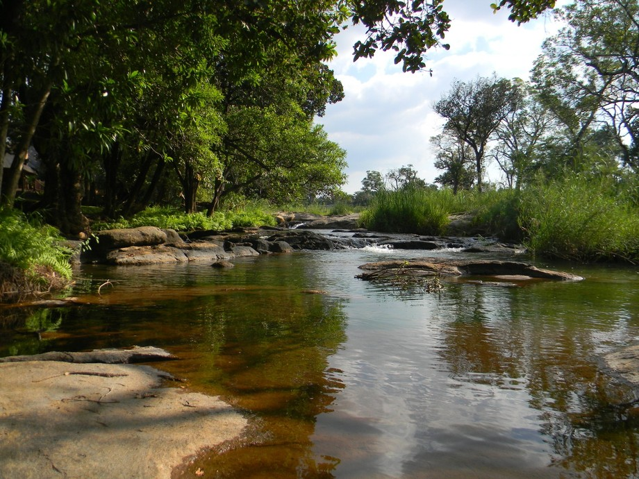 This photo was taken near the Kruger National Park South Africa. Photo of a river that is peacefu...